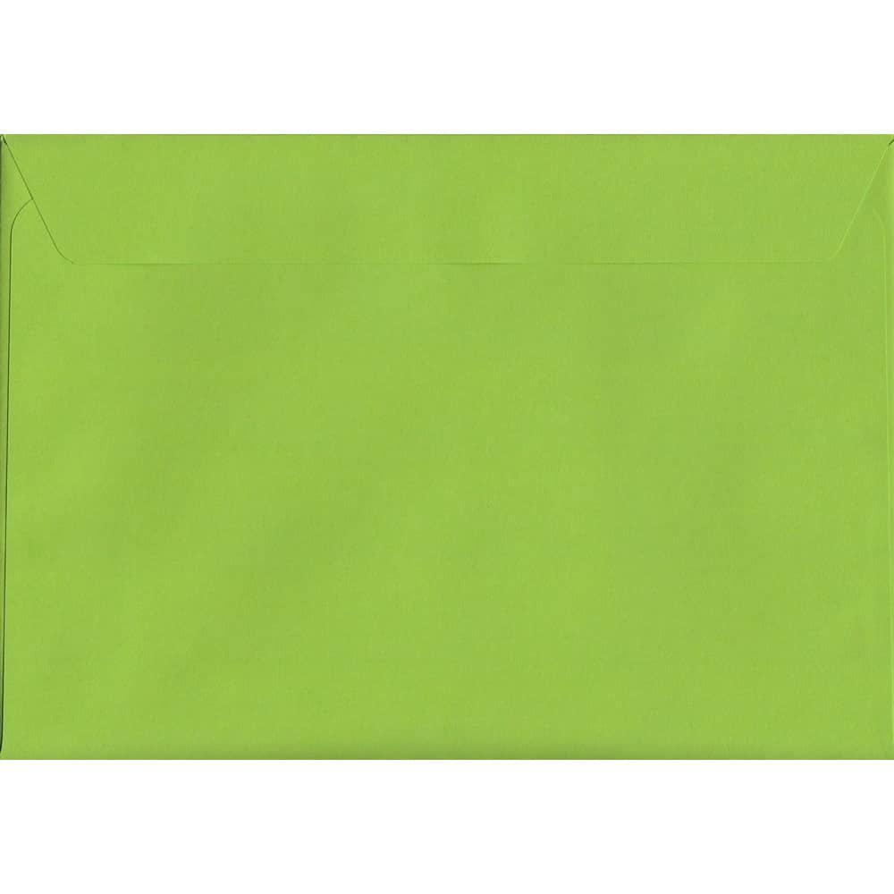 Vivid Lime Green C4 229mm x 324mm Peel/Seal C4 Colour Envelope