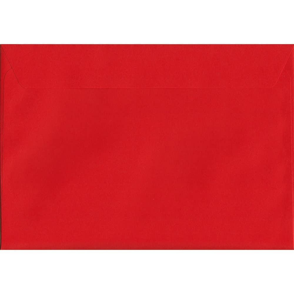 Vivid Pillar Box Red C4 229mm x 324mm Peel/Seal C4 Colour Envelope