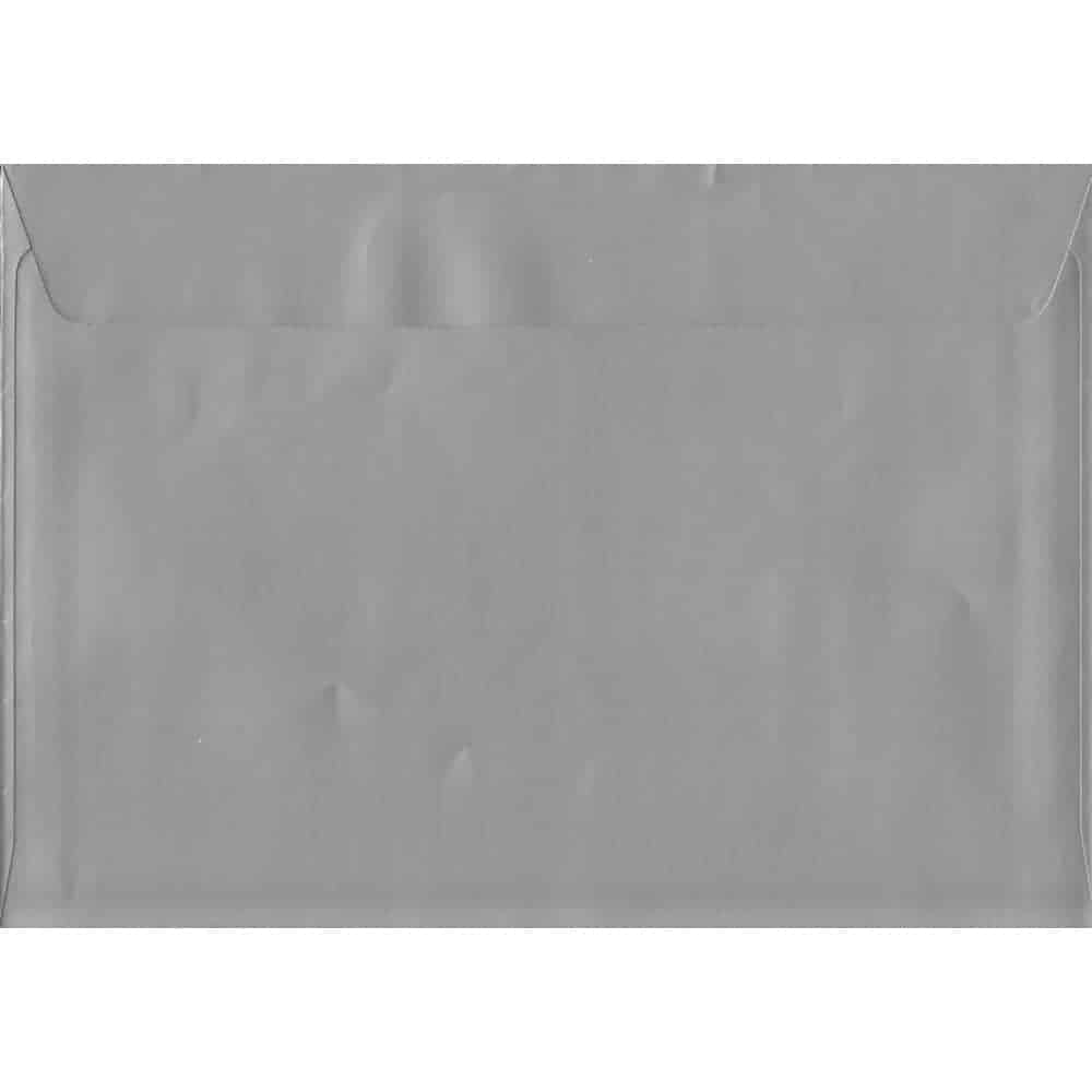 Metallic Shiny Silver C4 229mm x 324mm Peel/Seal C4 Colour Envelope