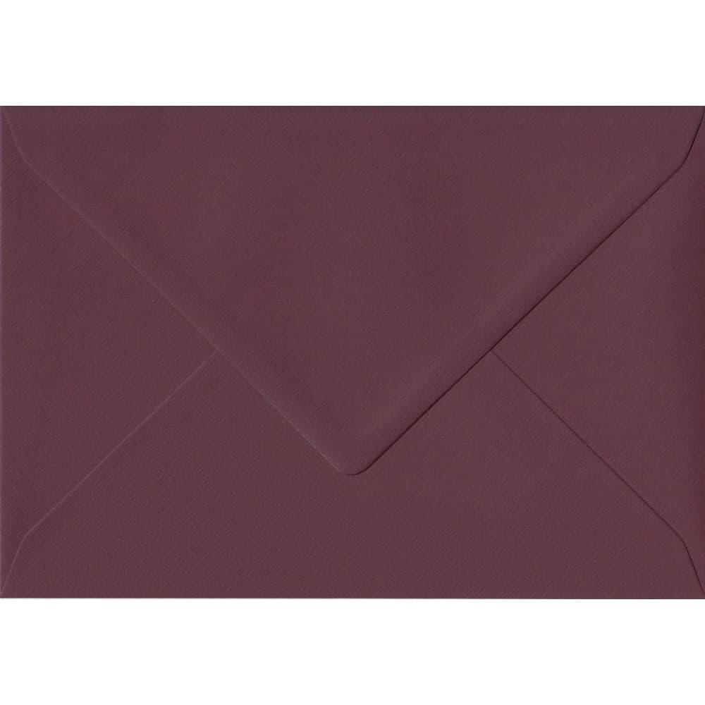 Deep Bordeaux Red 162mm x 229mm 120gsm Gummed C5 A5 Sized Envelope