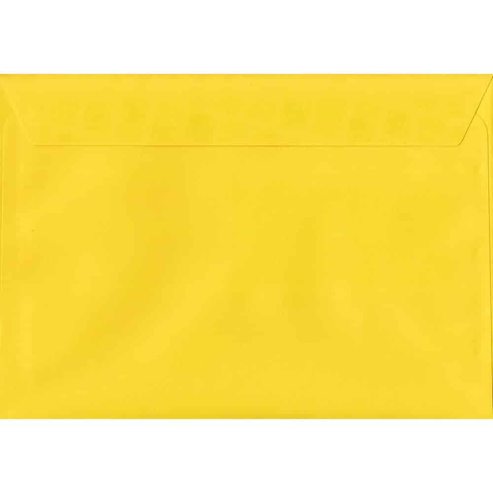 Vivid Canary Yellow C6 114mm x 162mm Peel/Seal C6 Colour Envelope