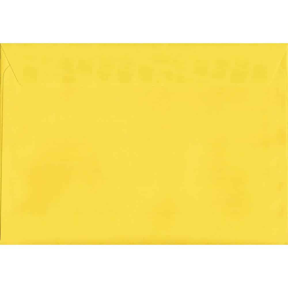 Vivid Canary Yellow C5 162mm x 229mm Peel/Seal C5 Colour Envelope