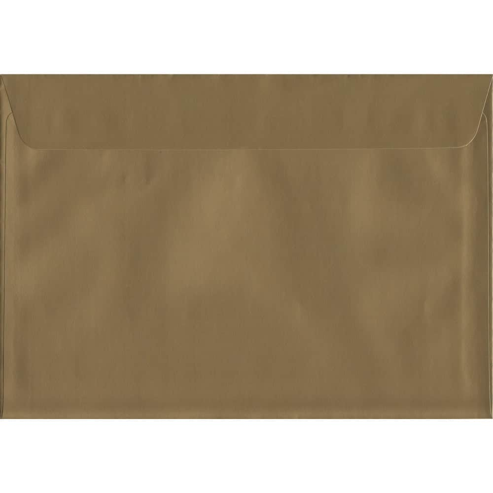 Metallic Shiny Gold C5 162mm x 229mm Peel/Seal C5 Colour Envelope