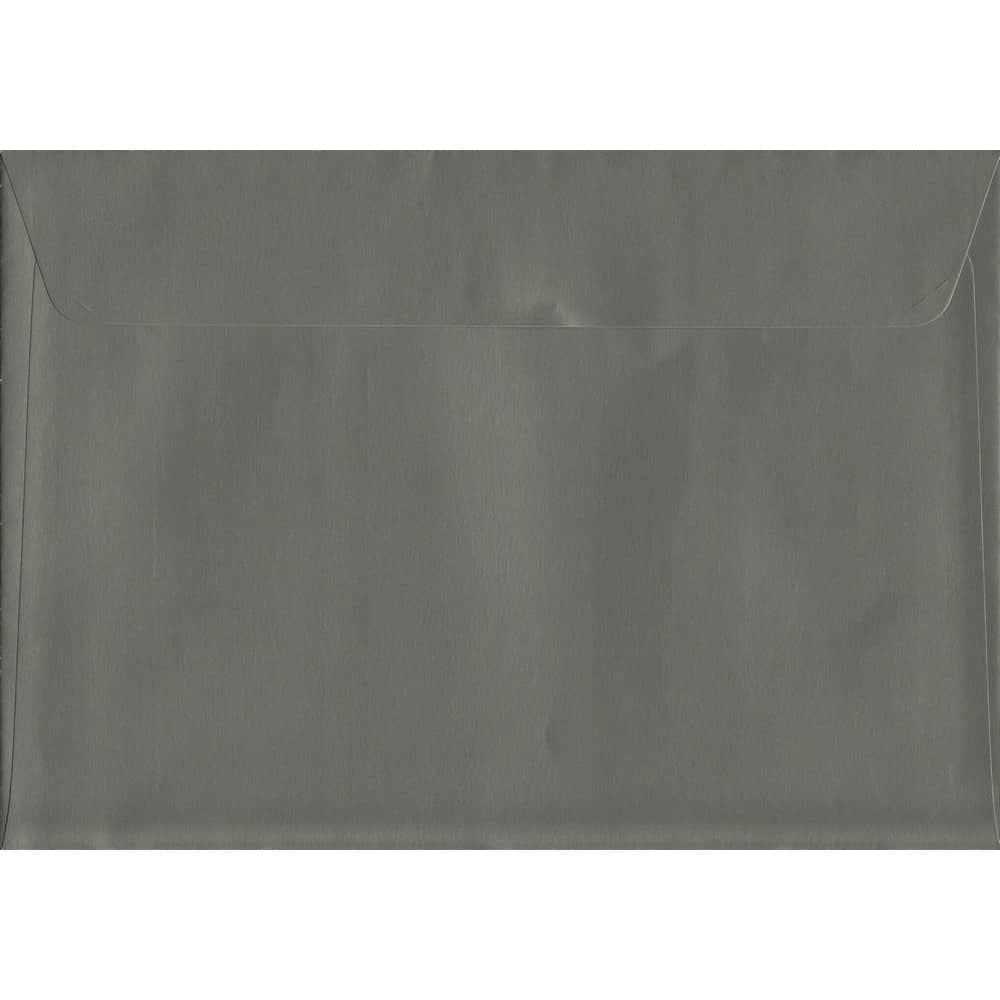 Metallic Gunmetal Grey C5 162mm x 229mm Peel/Seal C5 Colour Envelope