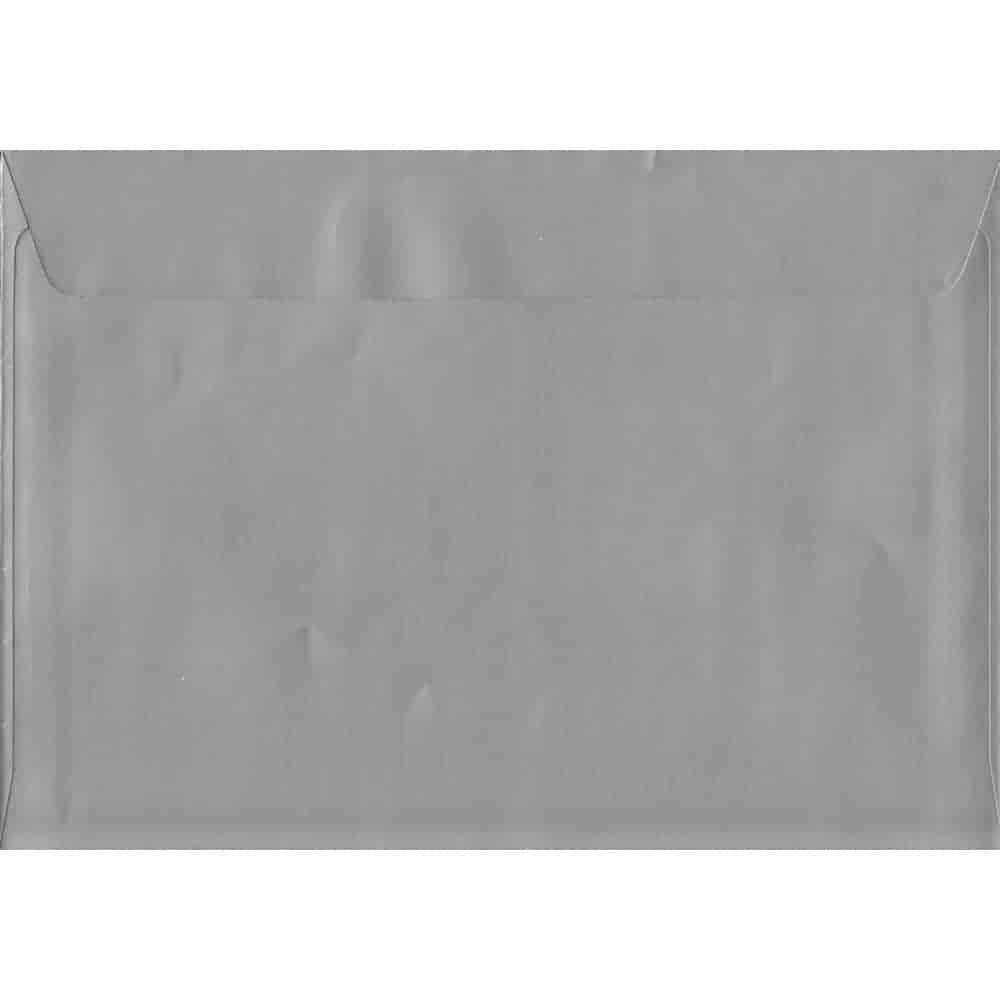 Metallic Shiny Silver C5 162mm x 229mm Peel/Seal C5 Colour Envelope