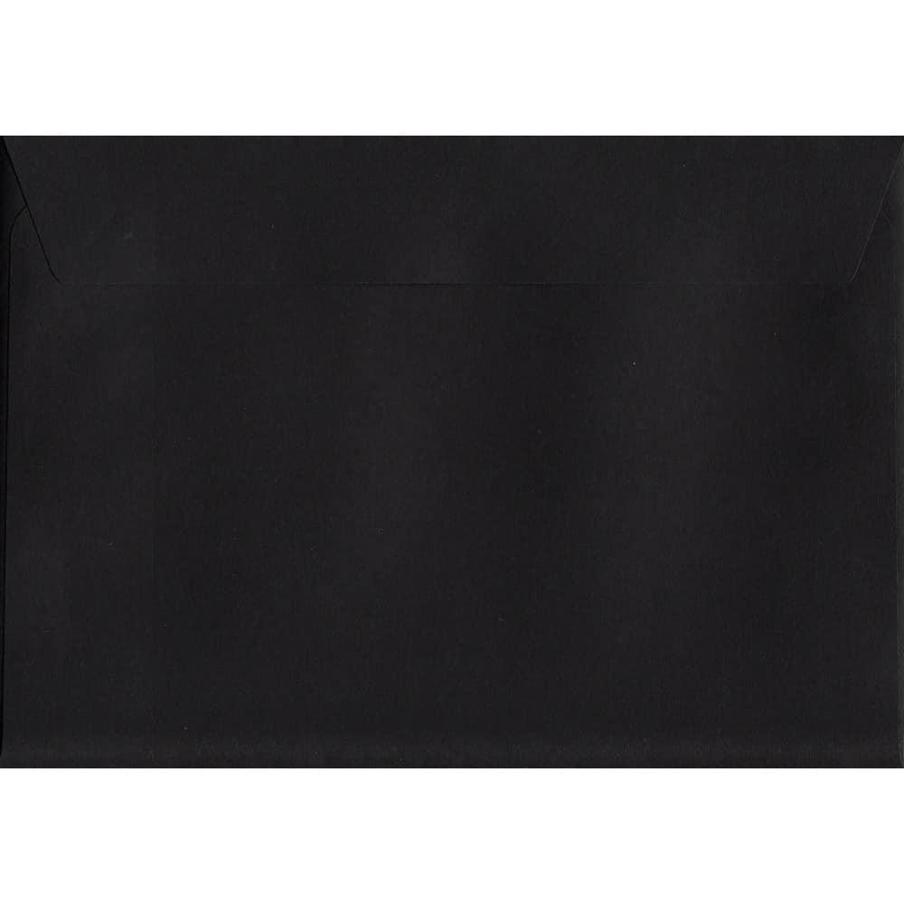 Luxury Black C6 114mm x 162mm Peel/Seal C6 Colour Envelope