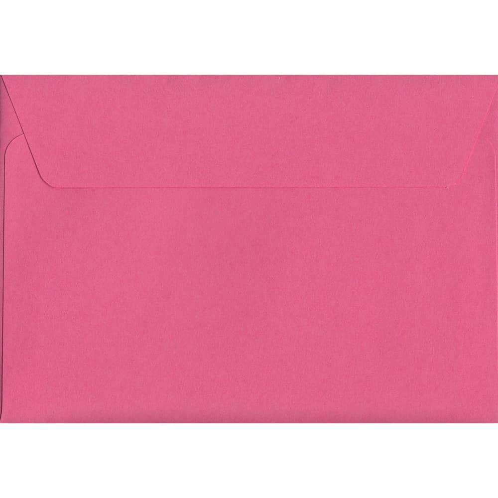 Vivid Cerise Pink C6 114mm x 162mm Peel/Seal C6 Colour Envelope