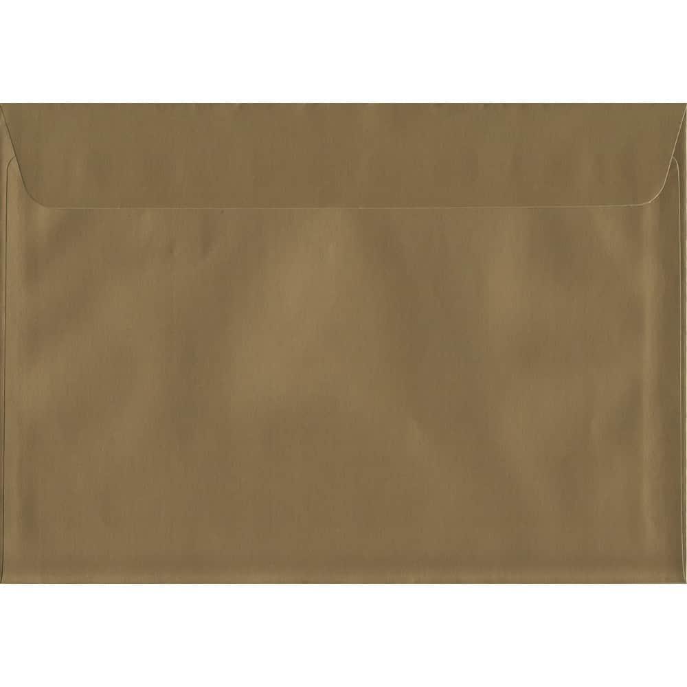 Metallic Shiny Gold C6 114mm x 162mm Peel/Seal C6 Colour Envelope