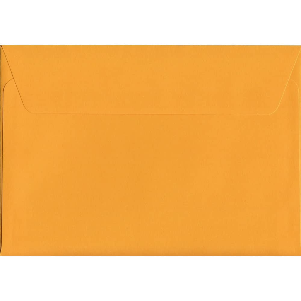 Box Of 500 Vivid Golden Yellow C6 114mm x 162mm Peel/Seal Coloured Envelopes