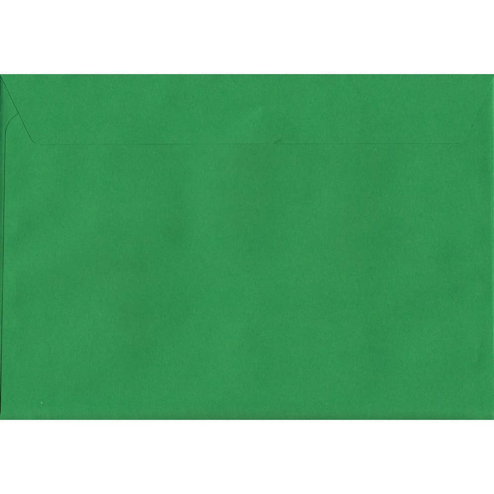 Vivid Holly Green C6 114mm x 162mm Peel/Seal C6 Colour Envelope