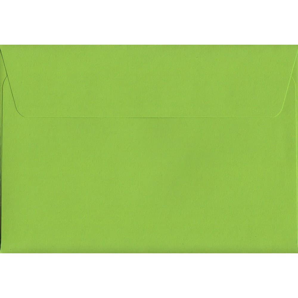 Vivid Lime Green C6 114mm x 162mm Peel/Seal C6 Colour Envelope
