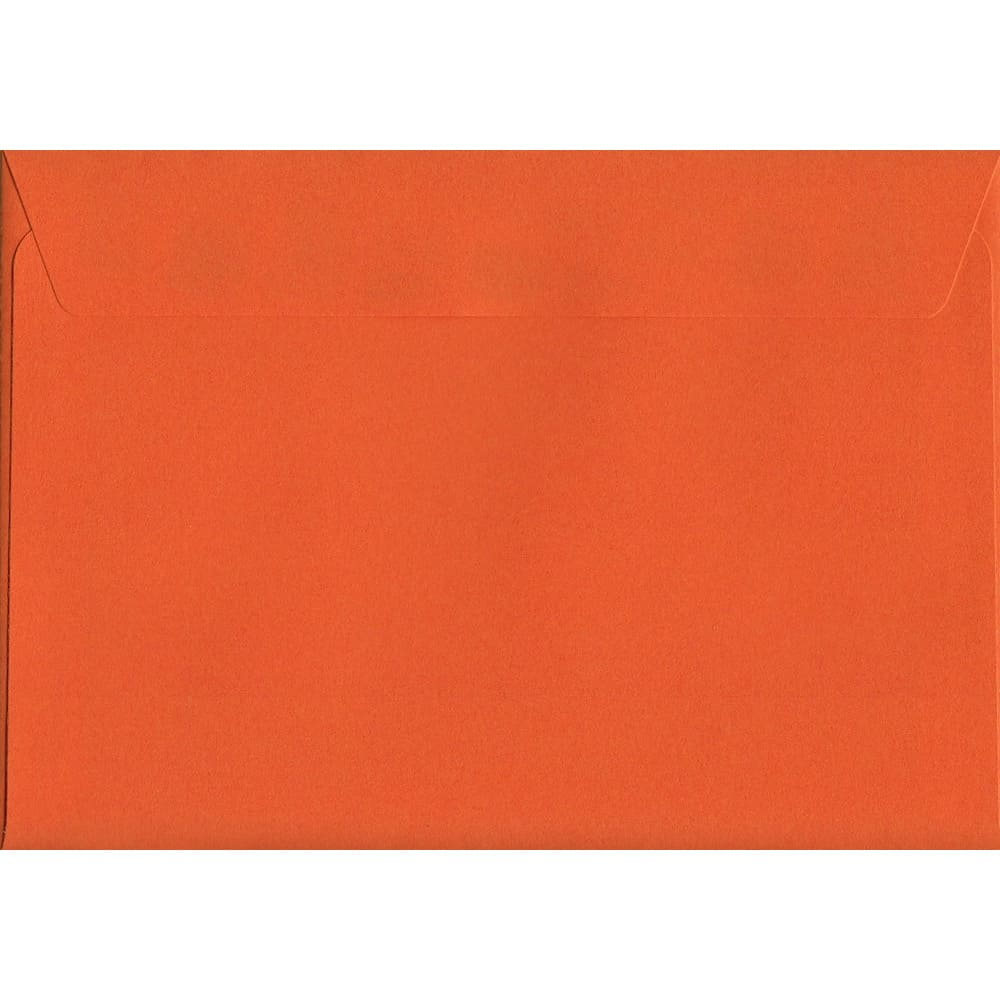 Vivid Sunset Orange C6 114mm x 162mm Peel/Seal C6 Colour Envelope