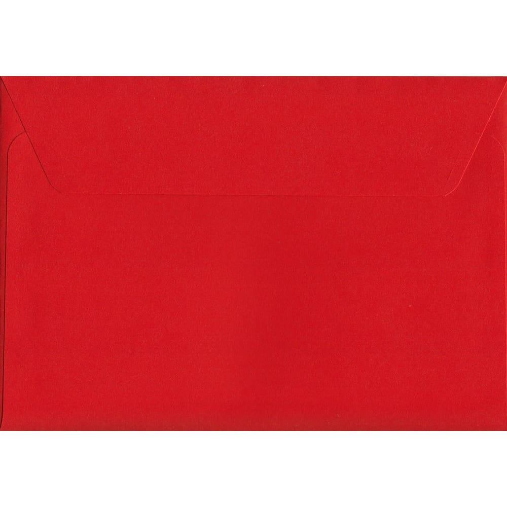 Vivid Pillar Box Red C6 114mm x 162mm Peel/Seal C6 Colour Envelope