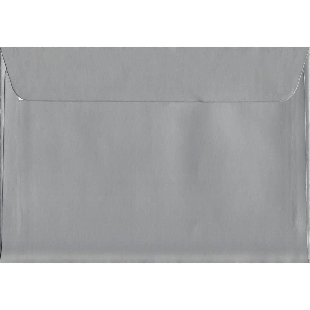 Metallic Shiny Silver C6 114mm x 162mm Peel/Seal C6 Colour Envelope