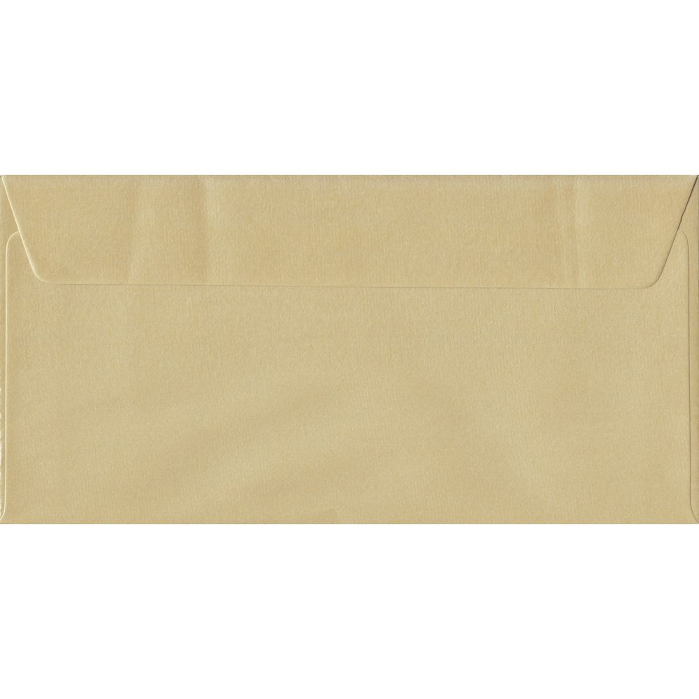 Pearl Champagne DL 110mm x 220mm Peel/Seal Colour Business Envelopes