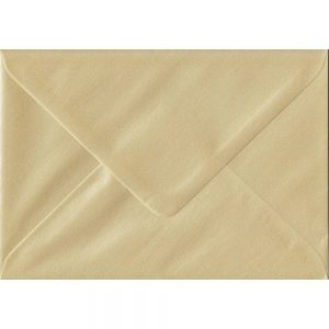 Pearl Champagne C6 114mm x 162mm Gummed Coloured A6 Card Envelopes