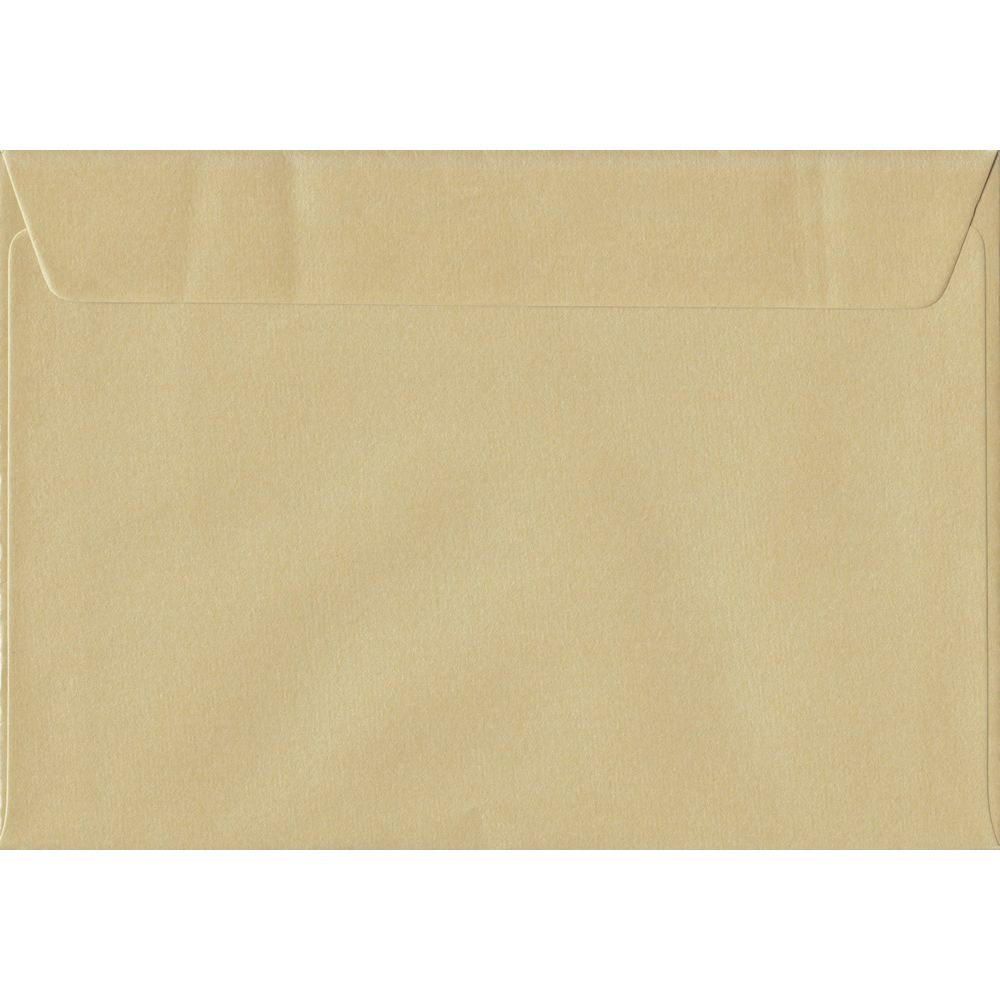 Pearl Champagne C5 162mm x 229mm Peel/Seal A5 Size Colour Envelopes