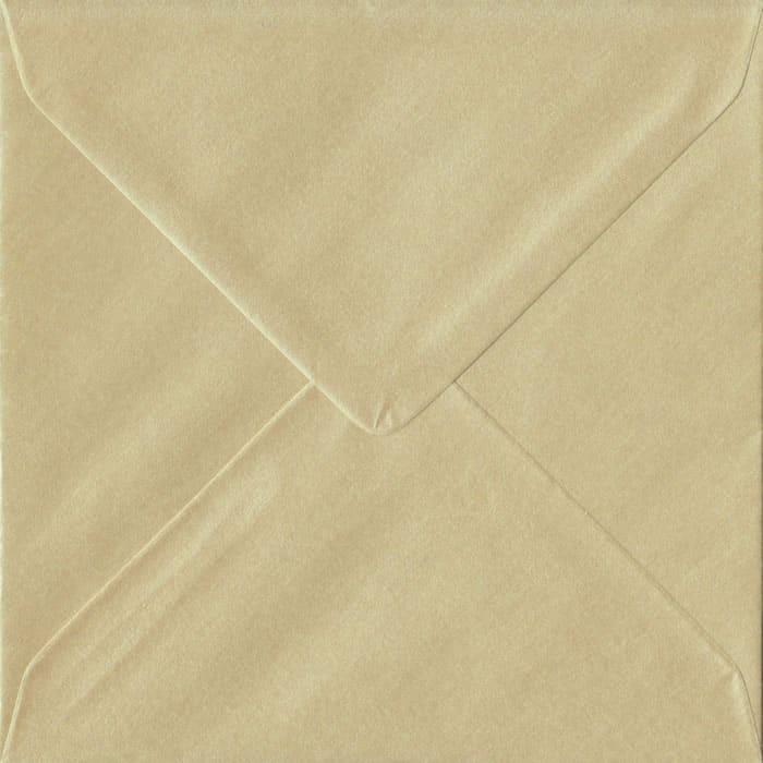 Pearl Champagne S4 155mm x 155mm Gummed Square Colour Envelopes