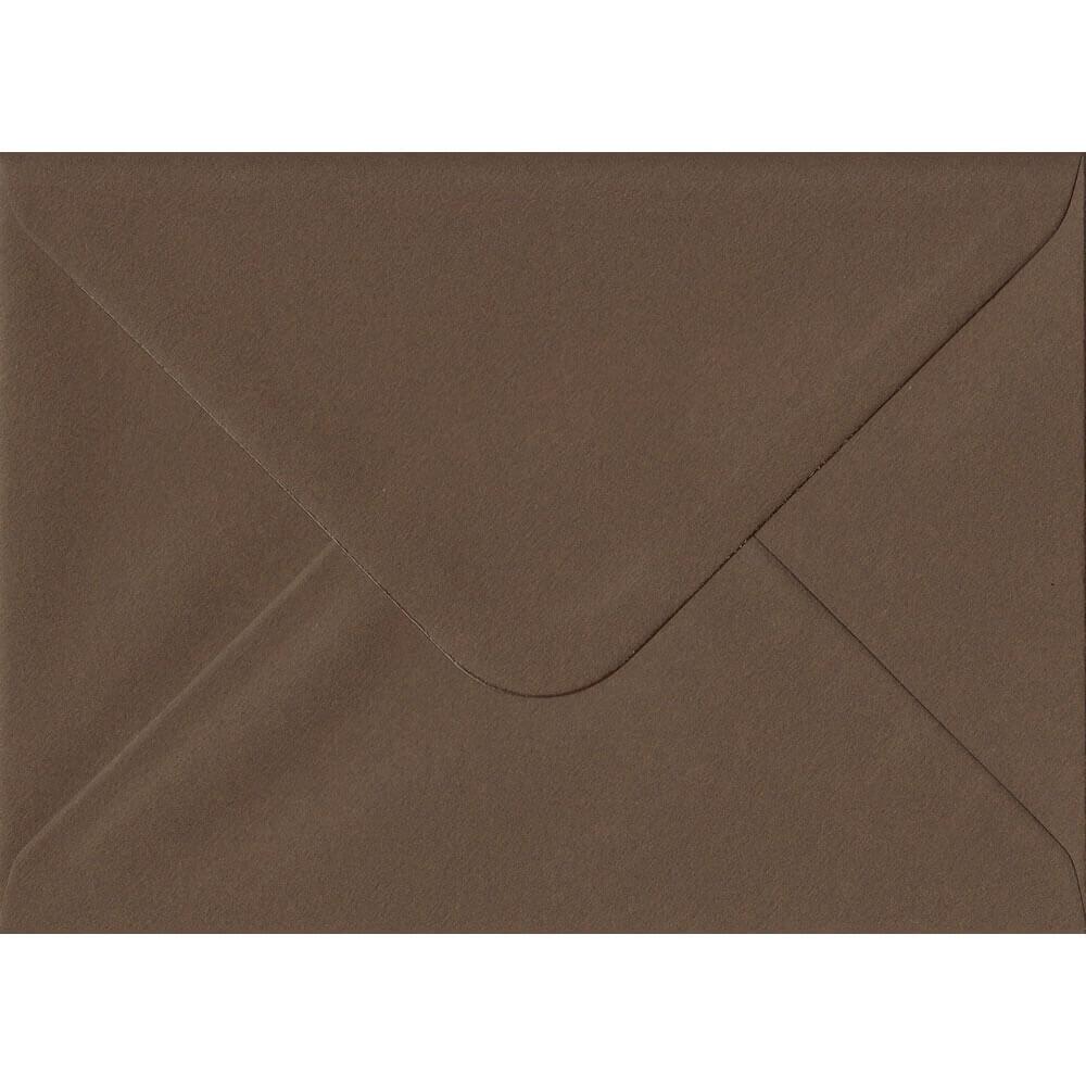 Chocolate Brown 114mm x 162mm 100gsm Gummed C6/Quarter A4 Sized Envelope
