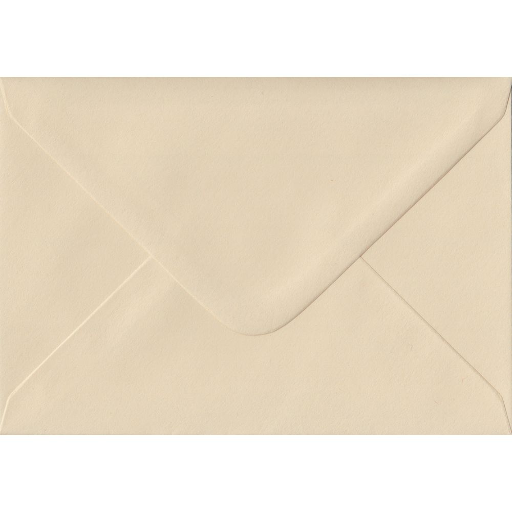 Cream C6 114mm x 162mm Gummed Coloured A6 Card Envelopes