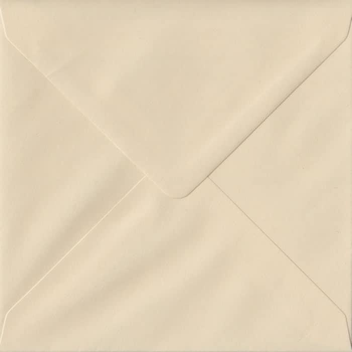 Cream S4 155mm x 155mm Gummed Square Colour Envelopes