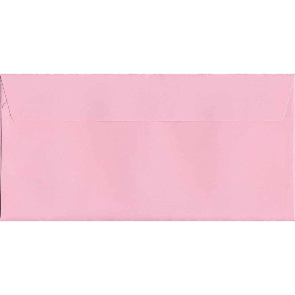 Pastel Baby Pink DL 114mm x 229mm Peel/Seal DL Colour Envelope