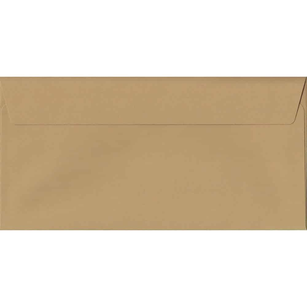 Biscuit Beige 114mm x 229mm 120gsm Peel/Seal DL/Tri-Fold A4 Sized Envelope