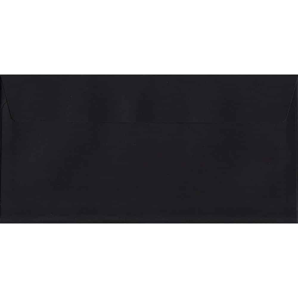 Luxury Black DL 114mm x 229mm Peel/Seal DL Colour Envelope