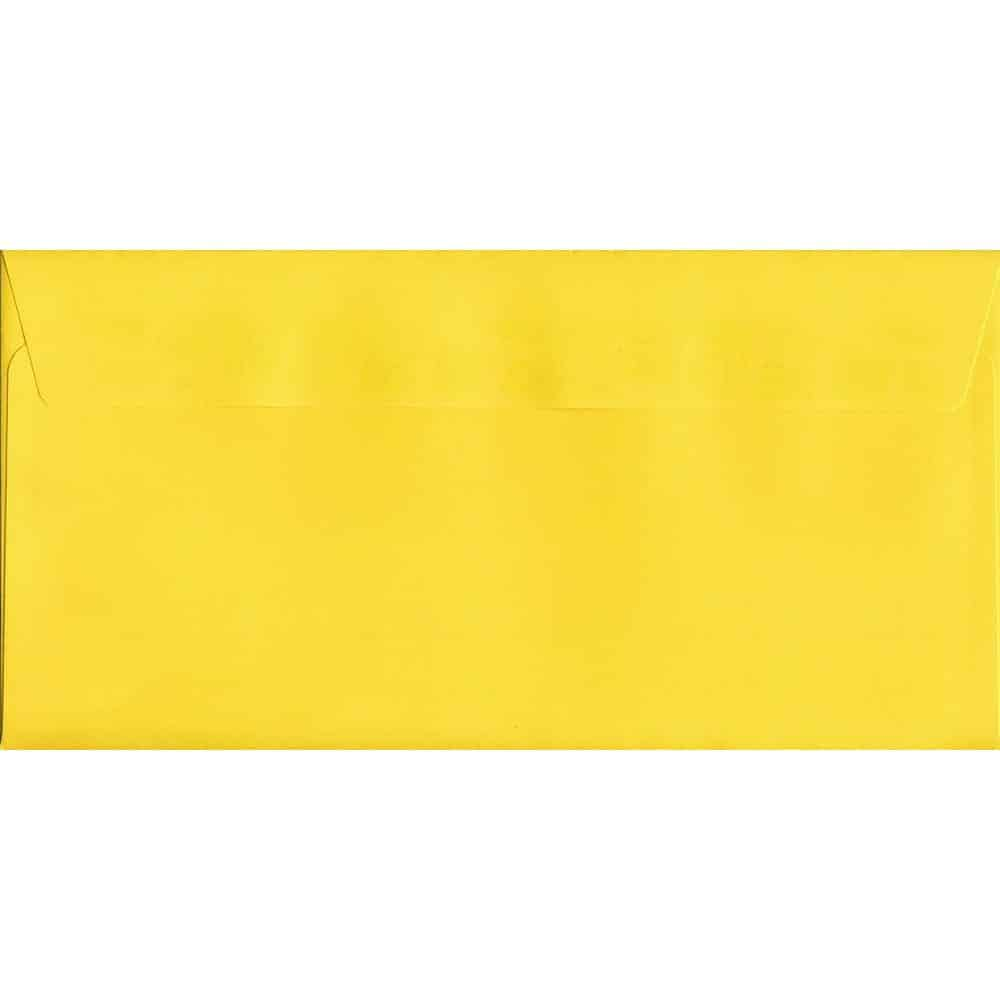 Vivid Canary Yellow DL 114mm x 229mm Peel/Seal DL Colour Envelope