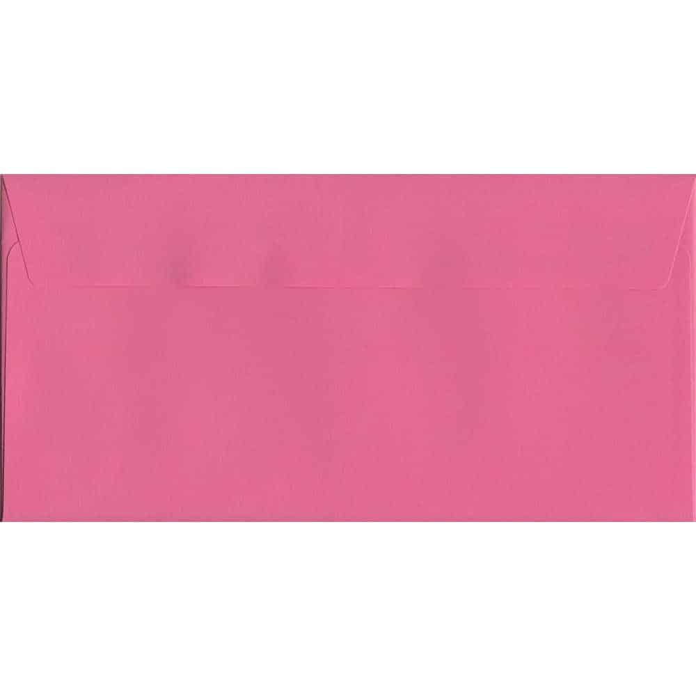 Vivid Cerise Pink DL 114mm x 229mm Peel/Seal DL Colour Envelope