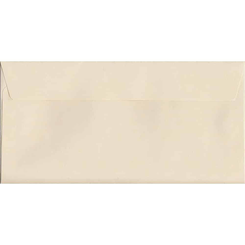 Pastel Clotted Cream DL 114mm x 229mm Peel/Seal DL Colour Envelope