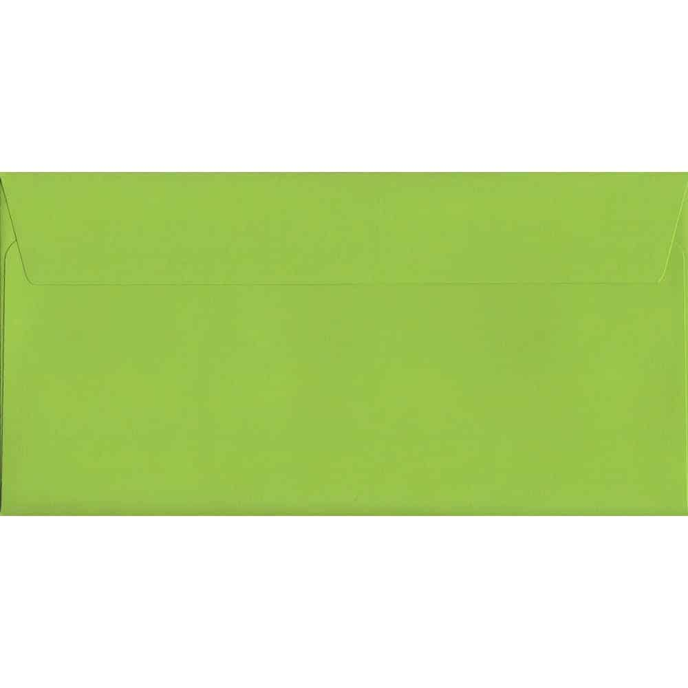 Vivid Lime Green DL 114mm x 229mm Peel/Seal DL Colour Envelope