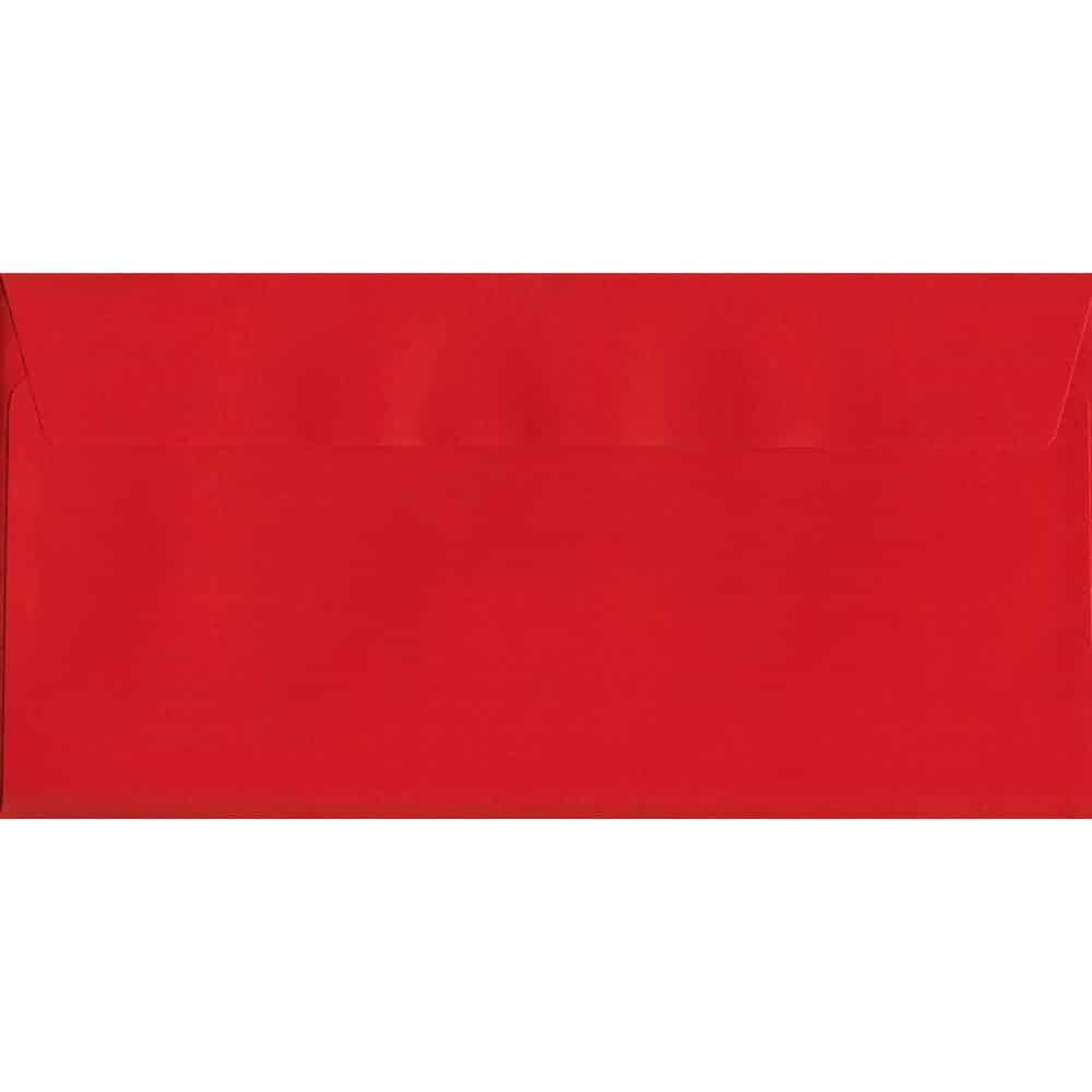 Vivid Pillar Box Red DL 114mm x 229mm Peel/Seal DL Colour Envelope