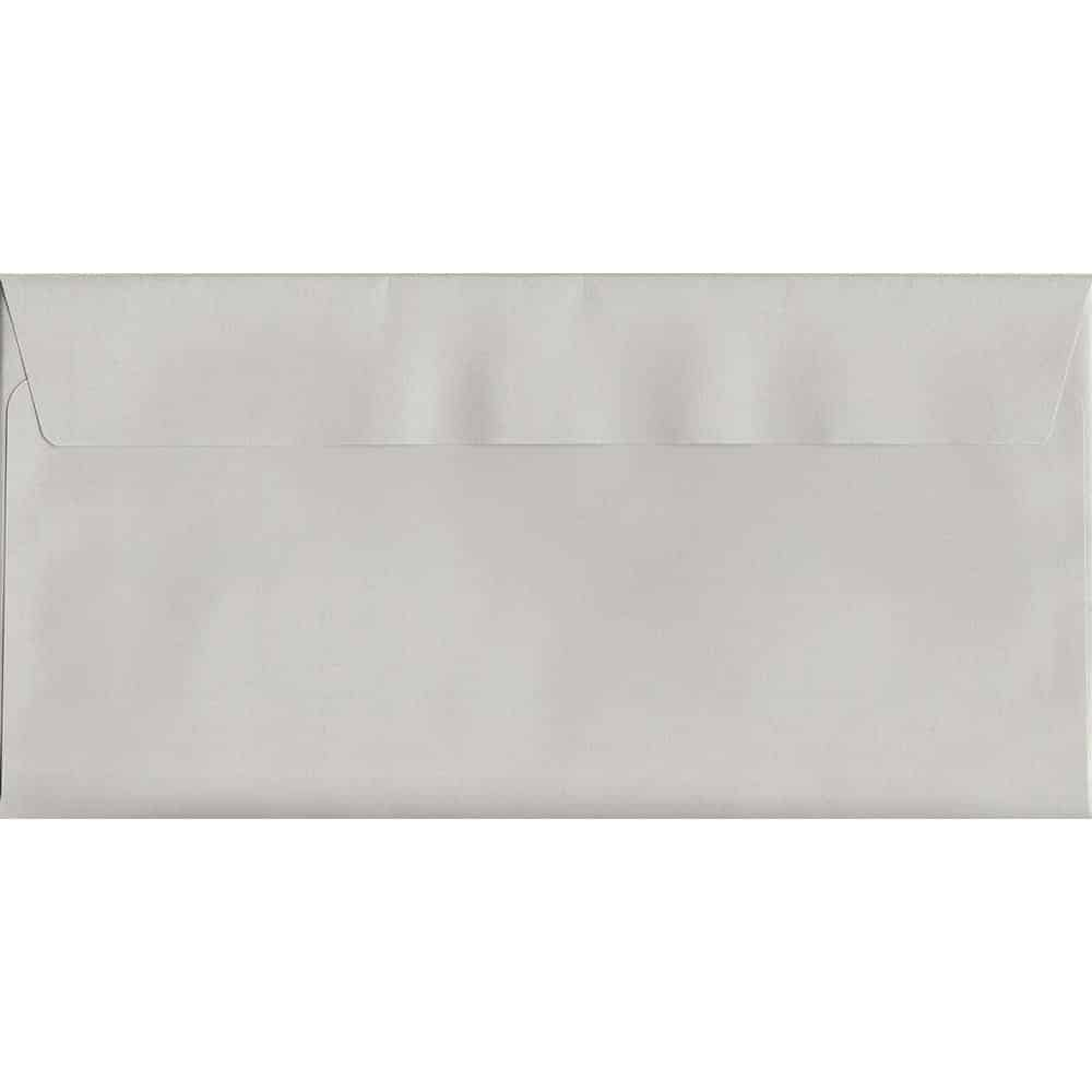Pastel French Grey DL 114mm x 229mm Peel/Seal DL Colour Envelope