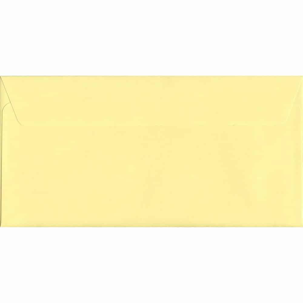 Pastel Sunlight Yellow DL 114mm x 229mm Peel/Seal DL Colour Envelope