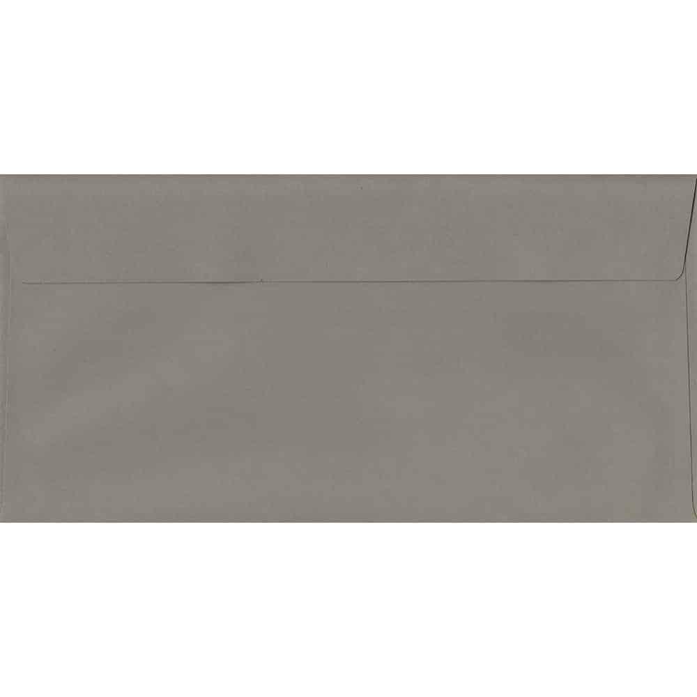 Storm Grey 114mm x 229mm 120gsm Peel/Seal DL/Tri-Fold A4 Sized Envelope