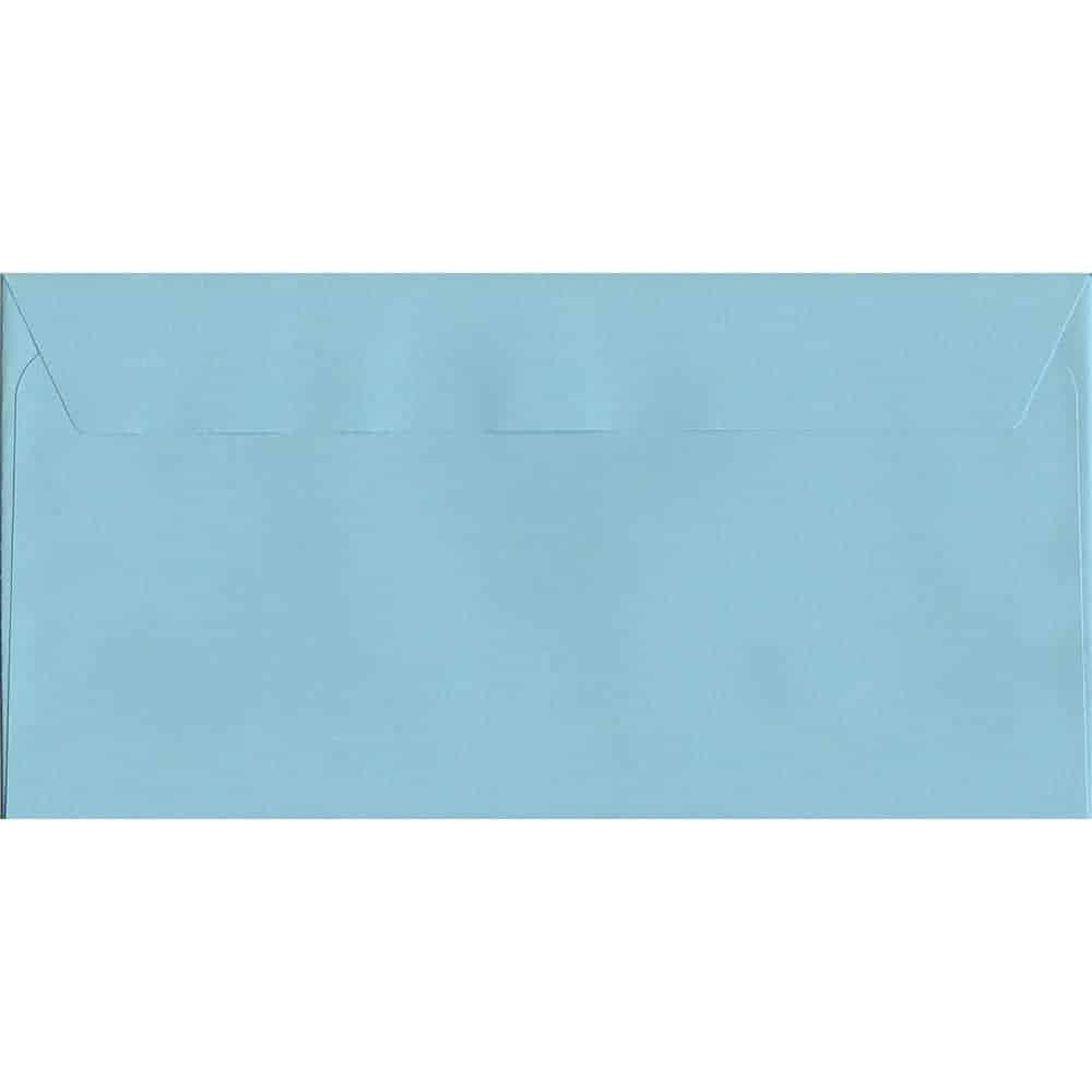 Pastel Wedgwood Blue DL 114mm x 229mm Peel/Seal DL Colour Envelope