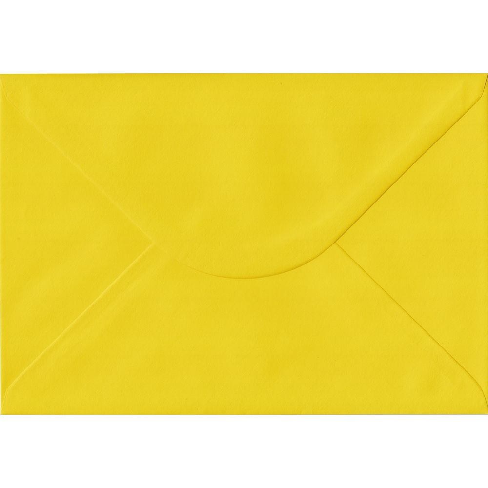 Daffodil Yellow C5 162mm x 229mm Gummed A5 Size Colour Envelopes