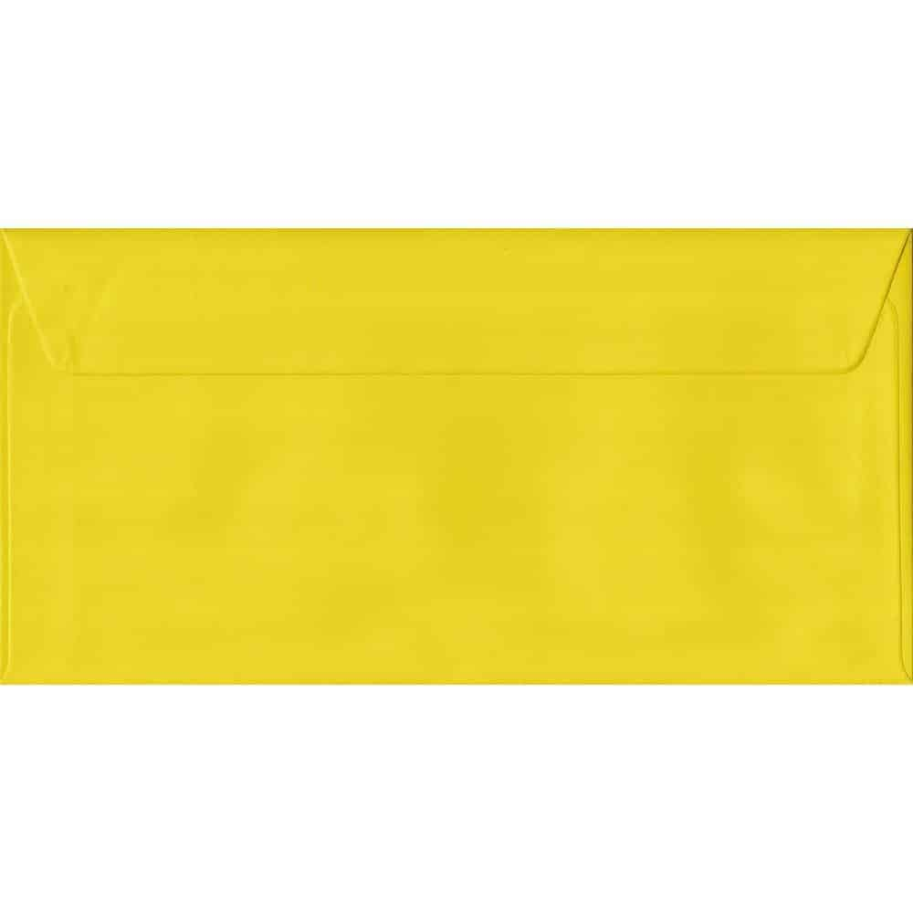 Daffodil Yellow DL 110mm x 220mm Peel/Seal Colour Business Envelopes