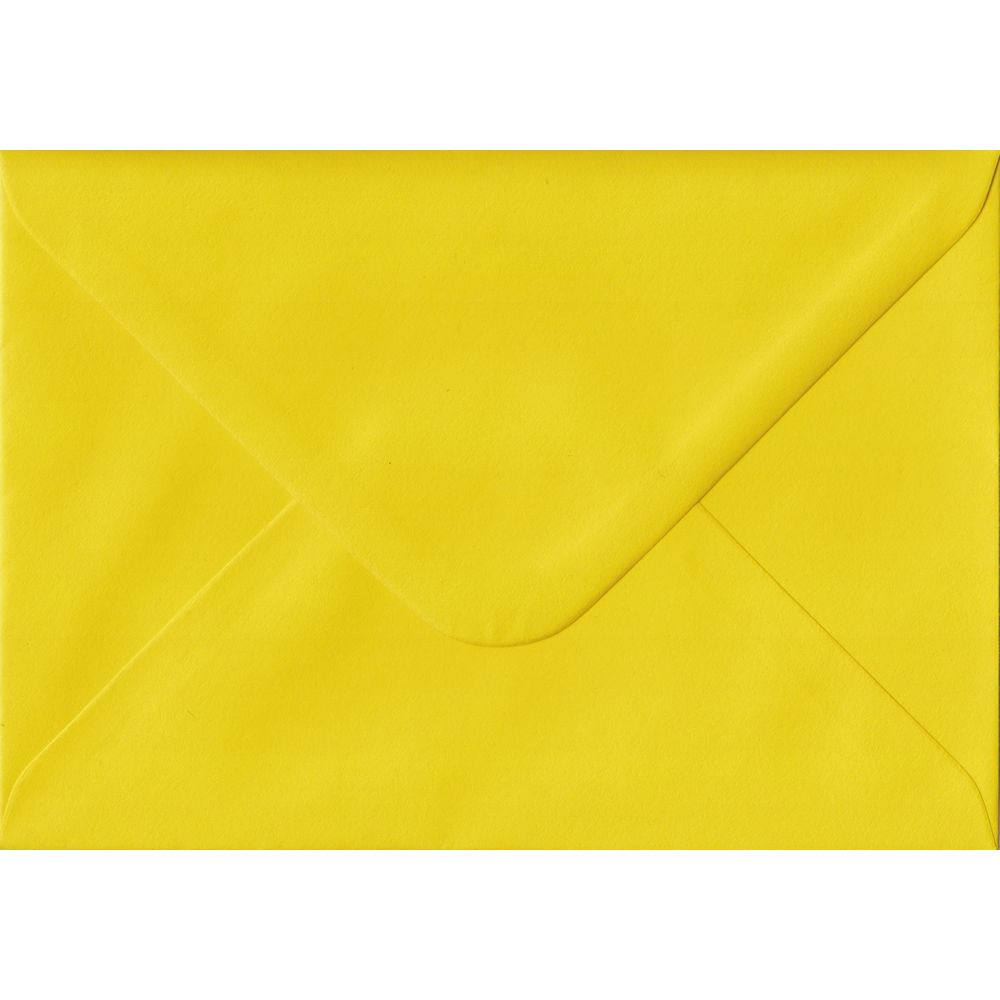 Daffodil Yellow C6 114mm x 162mm Gummed Coloured A6 Card Envelopes