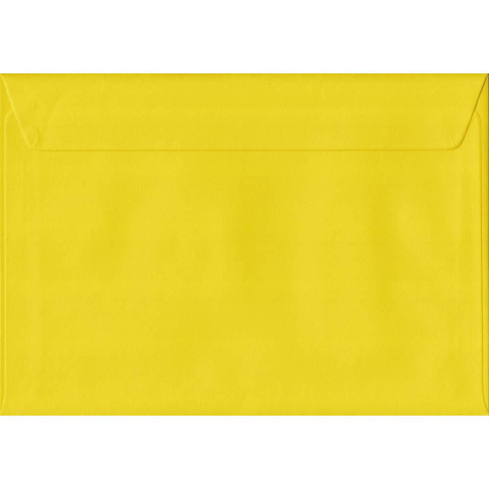 Daffodil Yellow C5 162mm x 229mm Peel/Seal A5 Size Colour Envelopes