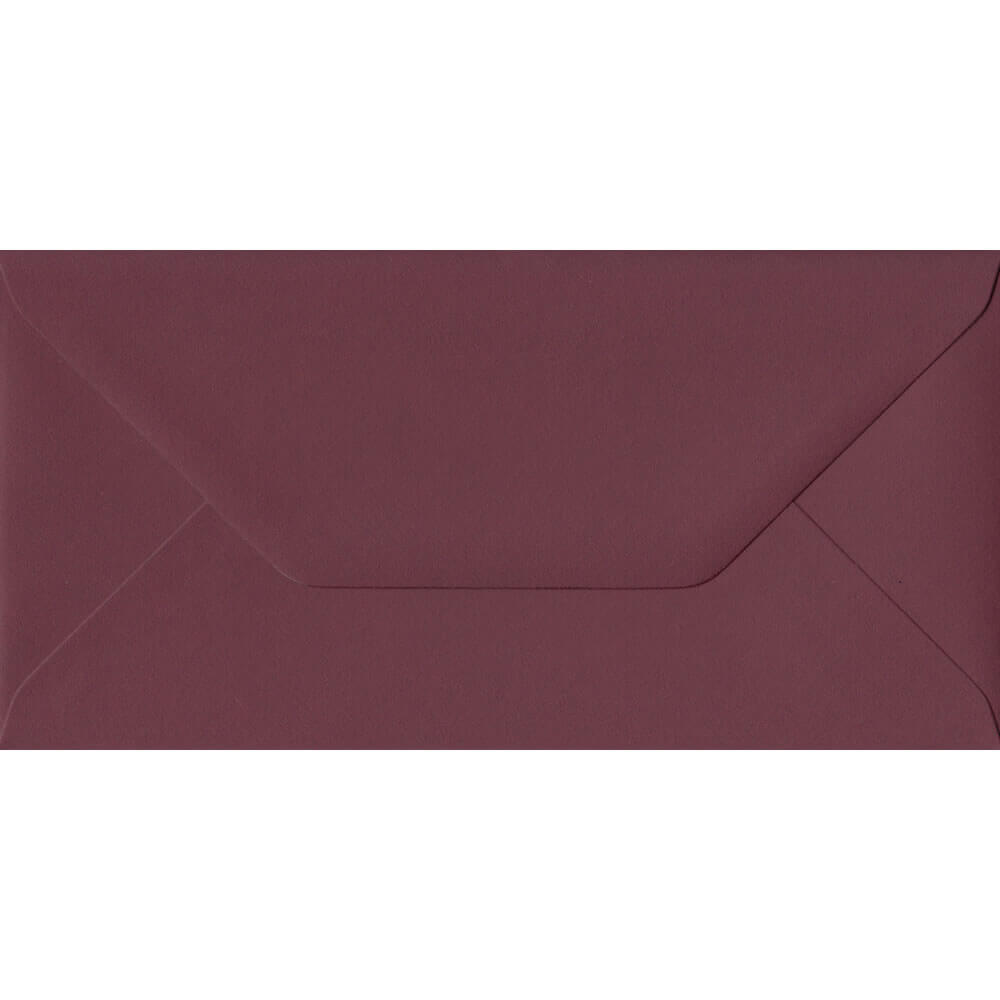Deep Bordeaux Red 110mm x 220mm 120gsm Gummed DL/Tri-Fold A4 Envelope