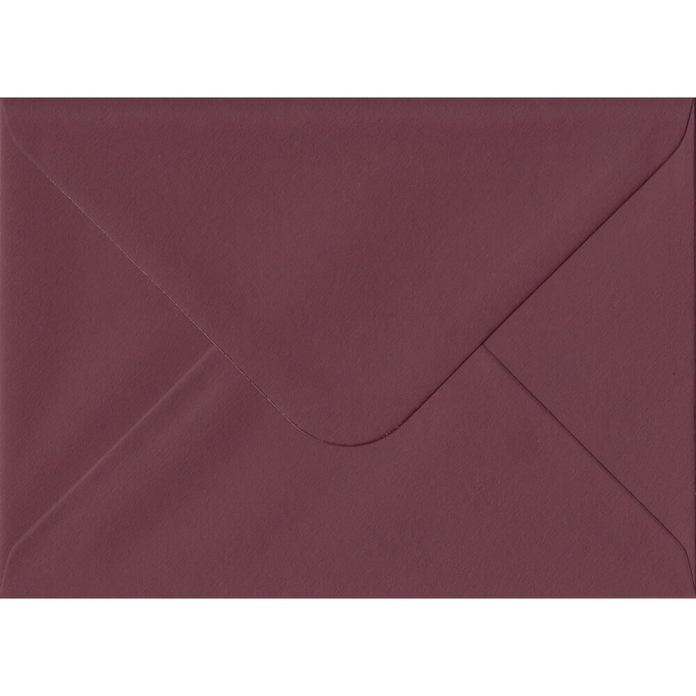 Deep Bordeaux Red 114mm x 162mm 120gsm Gummed C6/Quarter A4 Sized Envelope