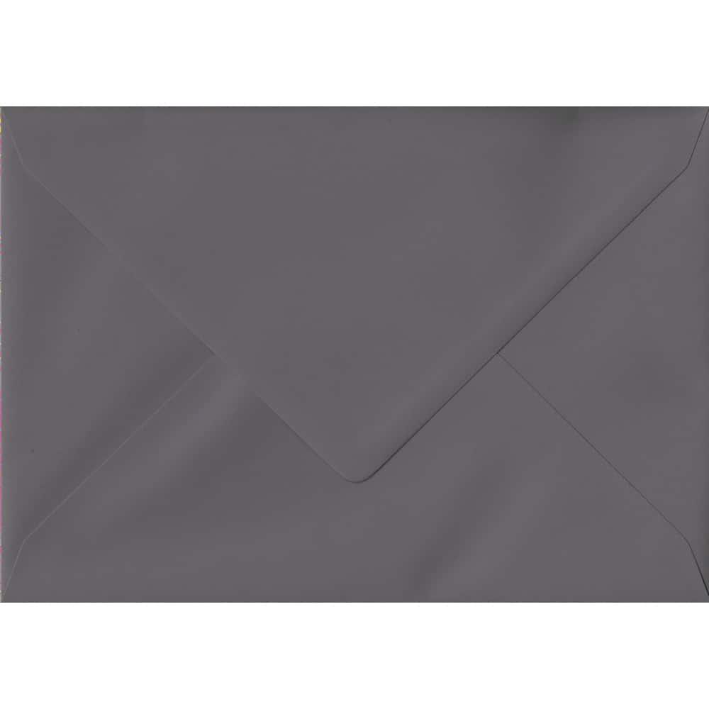 114mm x 162mm Dark Grey Grey Gummed C6/A6 135gsm Envelope