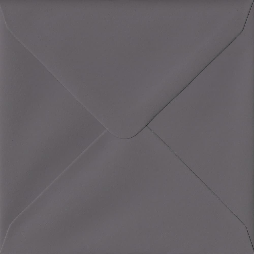 155mm x 155mm Dark Grey Grey Gummed Square 135gsm Envelope