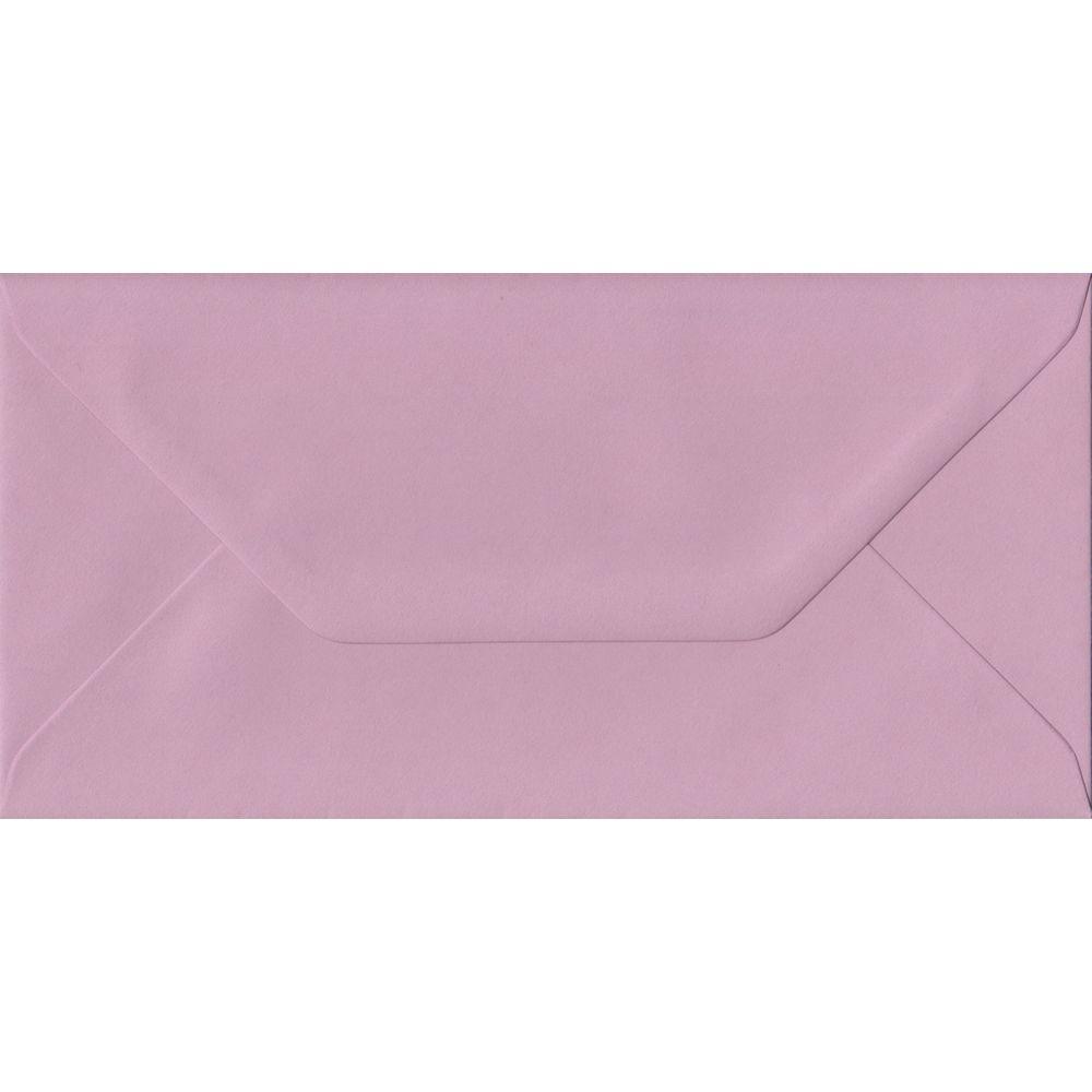 Dusky Pink DL 110mm x 220mm Gummed Colour Business Envelopes