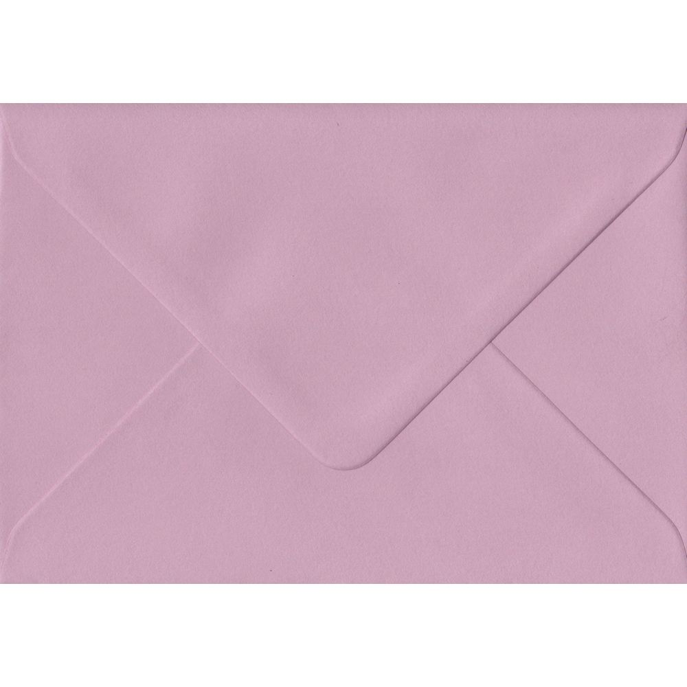 Dusky Pink C6 114mm x 162mm Gummed Coloured A6 Card Envelopes