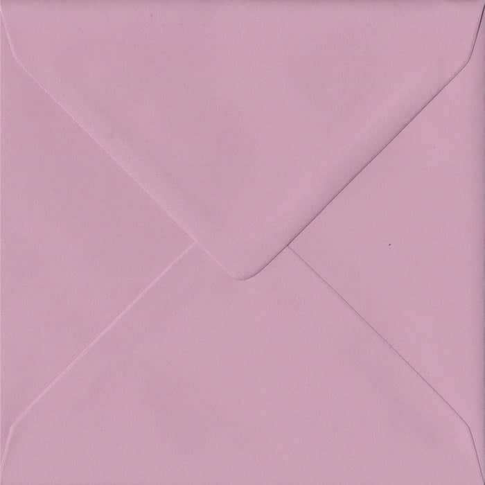 Dusky Pink S4 155mm x 155mm Gummed Square Colour Envelopes