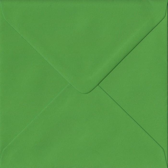 Fern Green S4 155mm x 155mm Gummed Square Colour Envelopes