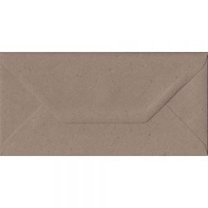 Recycled Fleck DL 110mm x 220mm Gummed Colour Business Envelopes